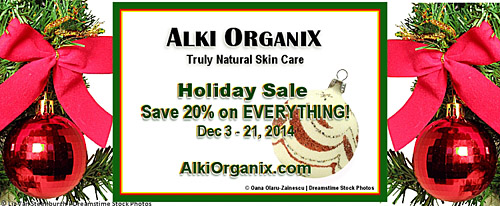 Alki Organix Holiday Sale!