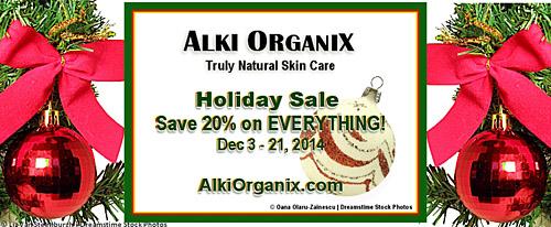 Alki Organix Holiday Sale!