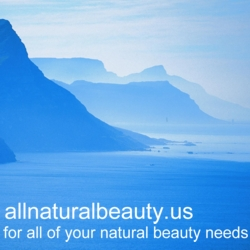 "Blue Seas 250 x250 Banner Ad For ""all natural beauty. us"""