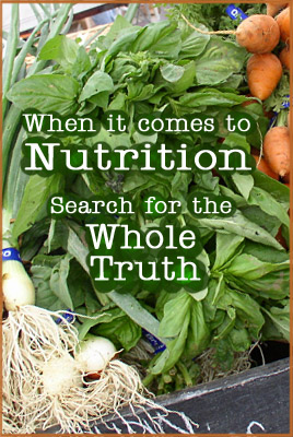 Keep your nutrition simple and whole